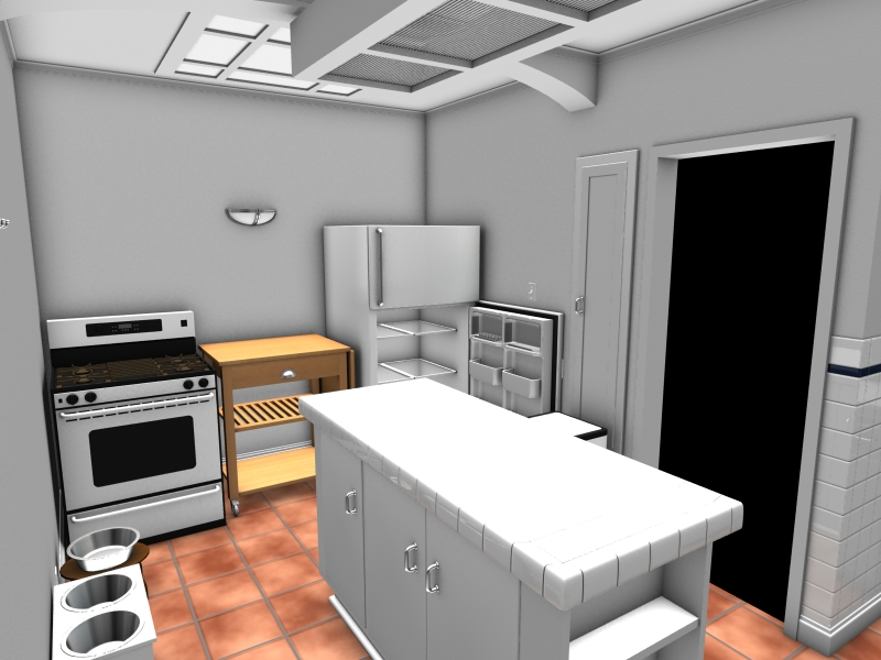 Virtual Model of the Kitchen