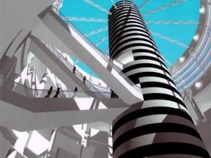 Taejon, Koria High Speed Train Station Visual Simulation