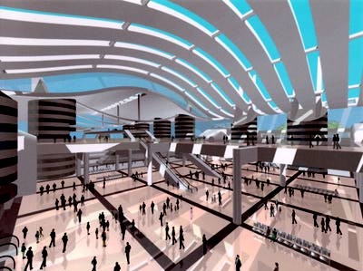 Train Station Visual Simulation